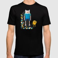 finn the pixel Mens Fitted Tee Black SMALL
