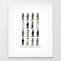 Woody Allen's Framed Art Print