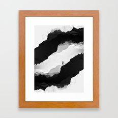 White Isolation Framed Art Print
