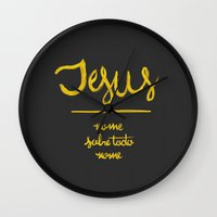 Jesus - Nome Sobre Todo … Wall Clock