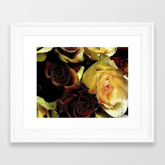 LOVE over GOLD Framed Art Print