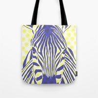 BLUE ZEBRA Tote Bag