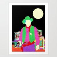 The Gay Cowboy Art Print
