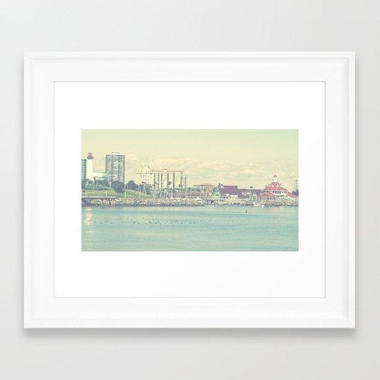 Seaside ~ Long Beach ~ California Framed Art Print
