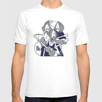 Fab Four Mens Fitted Tee White SMALL