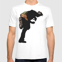 RUN ZOMBIE RUN! Mens Fitted Tee White SMALL