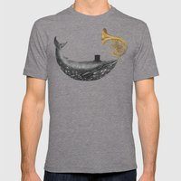 Whale Song Mens Fitted Tee Tri-Grey SMALL