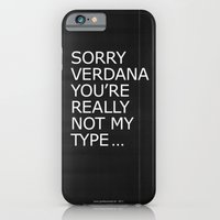 iPhone & iPod Case featuring Sorry Verdana you're really not my type by Grafiskanstalt