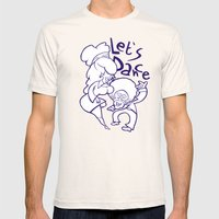 Let's Dance Mens Fitted Tee Natural SMALL