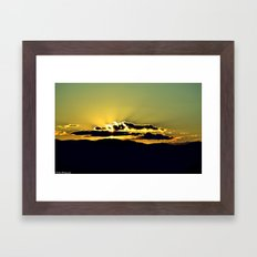 The Sky Is The Limit. Framed Art Print