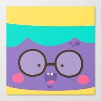 Purple Smile Canvas Print