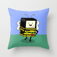 BEE-MO Throw Pillow