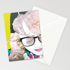 Portrait in flowers Stationery Cards