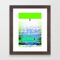 Sailboat and Swimmer (2b) Framed Art Print