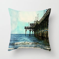 Cherry Grove SC Fishing … Throw Pillow