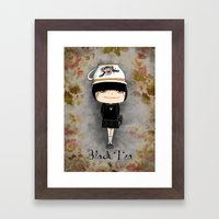 Black Tea Girl Framed Art Print