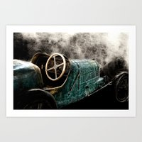 Early Days Of Auto Race Art Print