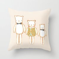 3 Bears Throw Pillow