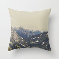 Mountain Flowers Throw Pillow