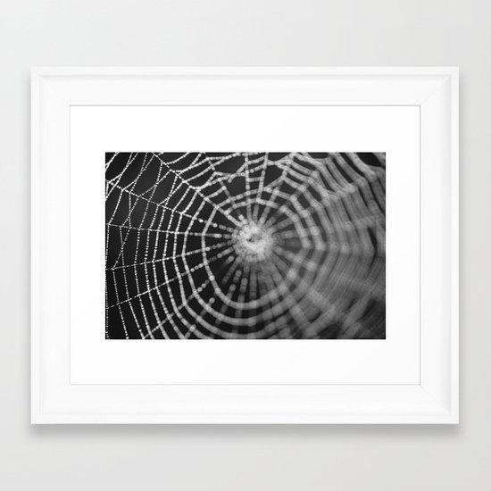 Bokeh Web  Framed Art Print