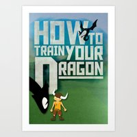 HOW TO TRAIN YOUR DRAGON - Fantasy | Animation | Movie | Fantastic | Childer | Sci-fi Art Print