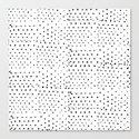 BLACK & WHITE POLKA DOTS Canvas Print
