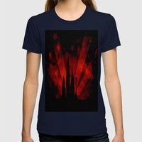 COLLAGE LOVE: Street Life  Womens Fitted Tee Navy SMALL