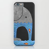 orange iPhone & iPod Cases featuring Thirsty Elephant  by Terry Fan