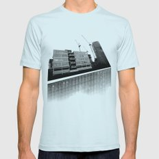 Modernity Lost Mens Fitted Tee Light Blue SMALL