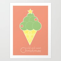cold and sweet Christmas Art Print