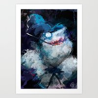 Penguin Painting Art Print