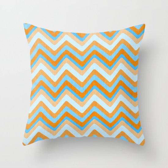 Something Fishy Waves. Throw Pillow
