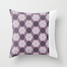 PAISLEYSCOPE posh (purple) Throw Pillow