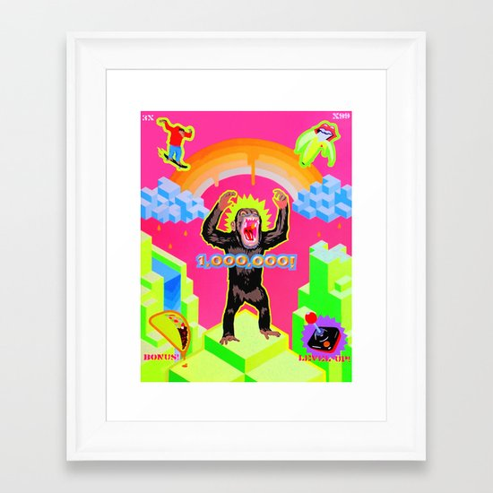 """APE ESCAPE"" Framed Art Print"