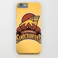 iPhone & iPod Case featuring Tatooine SandCrawlers - Gold by WanderingBert / David Creighton-Pester