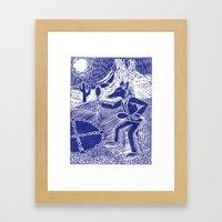 Coyote Dancer (Violet) Framed Art Print