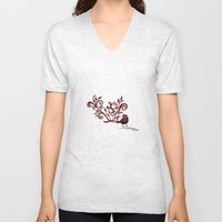 Swirly Bird Unisex V-Neck