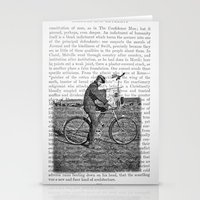 1930s Boy on Bike Photo Collage Stationery Cards