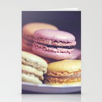 macarons on the windowsill Stationery Cards