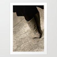 A Lady's Boots Art Print