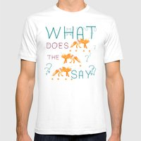 What Does The Fox Say? Mens Fitted Tee White SMALL