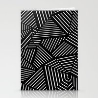 Ab Linear oom Black Stationery Cards