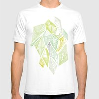 Green Diamonds Mens Fitted Tee White SMALL