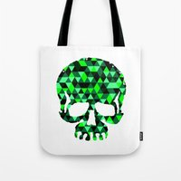 Triangle Camouflage Skull (WITHE) Tote Bag