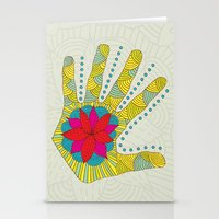 Flower hand Stationery Cards