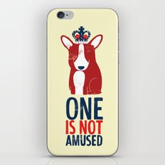 One is not amused iPhone & iPod Skin