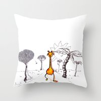 gogiraffe Throw Pillow