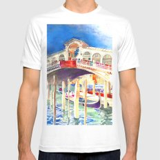 Rialto White SMALL Mens Fitted Tee