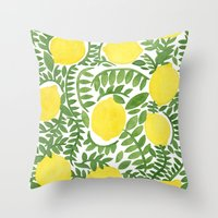 The Fresh Lemon Throw Pillow