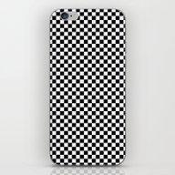 Black White Checks iPhone & iPod Skin
